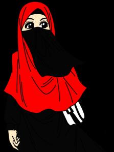 muslimah berpurdah merah (1)